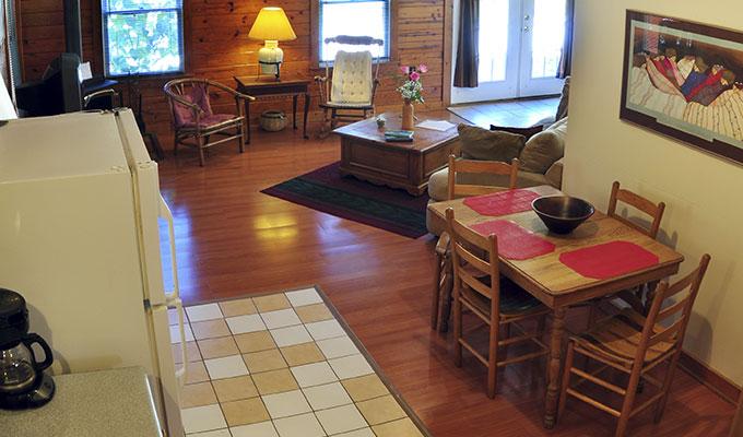 Cabin Roadrunner Kitchen Living Room