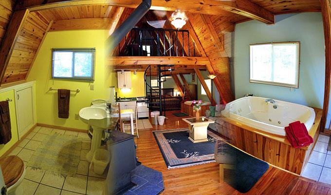 Kingfisher Cabin Bathroom, Loft & Jacuzzi