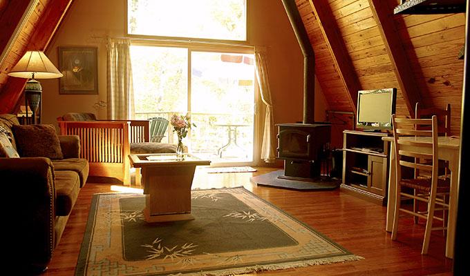 Kingfisher Cabin Living Room