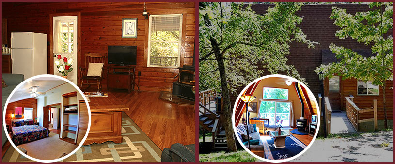 Cabins in the woods Lodging Specials