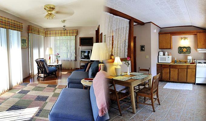 Hummingbird Pool Suite Living Room & Kitchen